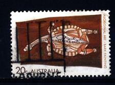 AUSTRALIA - 1971 - Arte degli aborigeni australiani. Tartaruga. Dipinto su corte