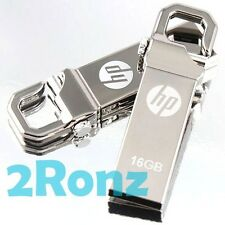 HP v250w 16GB 16G USB Flash Pen Drive Storage Memory Stick Hook Clip Lock Metal