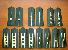 07's series China PLA Army Officers Soft Shoulder Boards,7 Pair,Set