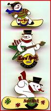 3 Hard Rock Café Denver 1999 Bonhomme de Neige Séries 1-2-3 Broche Lot Snowboard