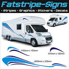 4m MOTORHOME VINYL GRAPHICS STICKERS DECALS SET CAMPER VAN RV CARAVAN HORSEBOX
