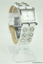 NWT Watch GUESS White Leather Simple Ladies New U85120L1