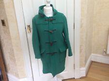 Ladies Gloverall Green Duffle Coat Duffel Uk 8 EU 34 Used