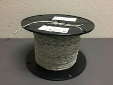 TFFN 18 AWG, Copper Hookup Wire, White with Blue Stripe, A Spool of 2500FT