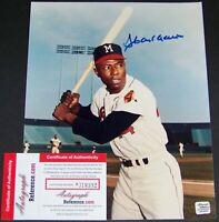 Hank Aaron Signed Autographed Baseball 8x10 Photo AR COA PAS BAS JSA GUARANTEE!