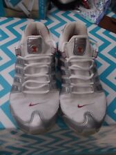 Men`s Vintage Nike Shox trainers white silver red size 8