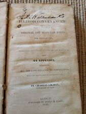 "Antique 1846 ""The Illinois Conveyancer"", Charles Gilman"