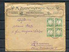 Illustrierter Briefumschlag Bayern 5 Pfg. MeF Bad Reichenhall-Hannover - b4026