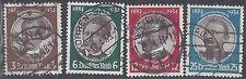 Germany Scott # 432-35 Used Complete Set  CV $29.70  1934