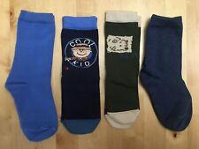 4 Pairs Various Designs Cotton Blend Ankle Socks Kids Size 9-12 (EU 27-30) *NEW*