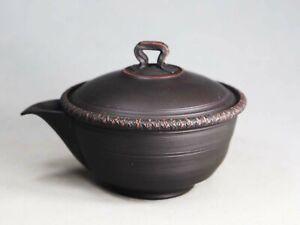 Tokoname Hand-made Hohin Teapot by Fugetsu, #fugetu061 : 110*D89*H74mm, 120ml