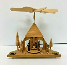 "Original Erzgebirge Pyramid ""Nativity"" Tea-light Holder"
