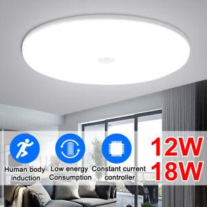 LED Sensor Deckenleuchte mit Bewegungsmelder Deckenlampe badlampe Warm Kaltweiß