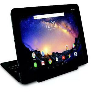 """Galileo Pro 11.5"""" 32GB 2 In 1 Tablet With Keyboard Case And Android OS, Charcoal"""