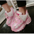 New Womens Lace Up Platform Heel Casual Running Sports New Fashion Sneakers Shoe