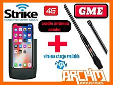 APPLE IPHONE X- STRIKE MOBILE PHONE CRADLE WLESS CHARGE PRO + GME 7DBI ANTENNA