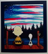 Peanuts ♡ Snoopy ♡ Charlie Brown ♡ American Flag ♡ Magnet.