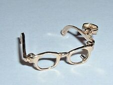 14K YELLOW GOLD 3D MOVEABLE EYE SUN GLASSES CHARM