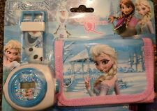 Frozen Children's Watch Wallet Set For Kids Boys Girls  Gift with Projector free