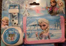 Reloj de niños de Frozen conjunto de cartera para niños Niños Niñas Regalo Gratis Con Proyector