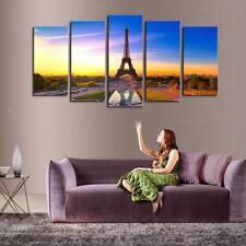 5pcs Modern Artwork Canvas Wall Decorative Eiffel Tower Paintings 40/60/80cm
