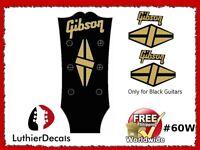 Gibson Guitar Headstock Decal Restoration Waterslide Logo 60w