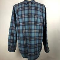 Vintage GAP Multi Plaid Flannel Button Down Shirt 100% Cotton LS Mens Size XL