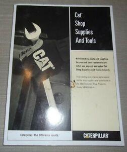CAT CATERPILLAR SHOP SUPPLIES AND TOOLS MANUAL BOOK 2002