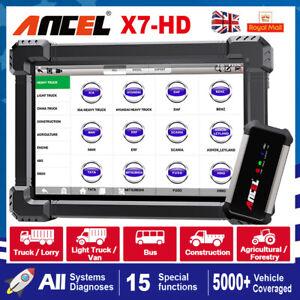 ANCEL X7 24V HD Heavy Duty Truck All System Diagnostic Tool OBD2 Scanner Tablet