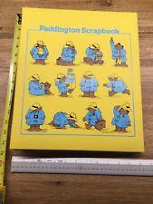 "Vintage RARE Paddington Bear Eden Scrapbook by C. R. Gibson 14.5"" X 12""  G1"