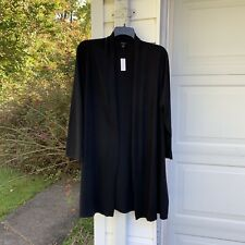 NWT Talbots Pretty Black Long Cardigan Sweater 2X 18W 20W