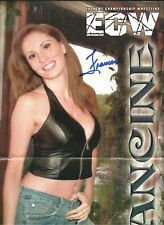 Eb1762 Queen of Xteme Francine signed Mexican Wrestling Magazine Poster w/Coa