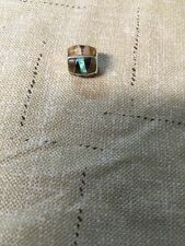 Native American Navajo Pandora Bead Edwin K  Lge Brown MultiStone Charm Beads #3