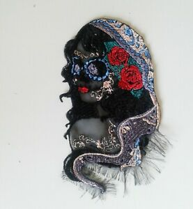 Santa Muerte Gypsy Death Extra Quality Sew-On Embroidered Patch