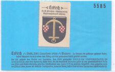 Reklamemarke Wappen von Enkirch Rheinland-Pfalz um 1925 (B888)