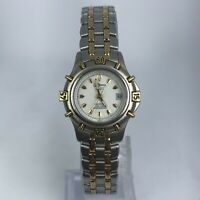 Croton Reliance Mens Quartz White Dial Two Tone Stainless Steel Band Watch
