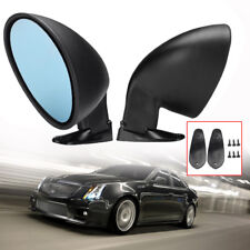 2X Universal Classic Style Car Front Door Wing Blue Side View Mirror Replace Set