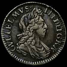 More details for 1701 william iii early milled silver maundy threepence