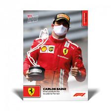 2021 TOPPS NOW F1 #12 CARLOS SAINZ - FRIST PODIUM FOR SCUDERIA FERRARI - 5/23/21