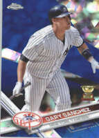 GARY SANCHEZ 2017 TOPPS CHROME SAPPHIRE EDITION #7 ONLY 250 MADE