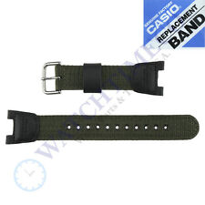 CASIO Band 10304188 Nylon/Leather TWIN SENSOR SGW-100B,SGW100B-3V,SGW-100,SGW100