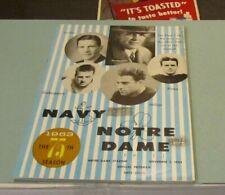 1963 Notre Dame vs. Navy College Football Game Program Roger Staubach Vintage