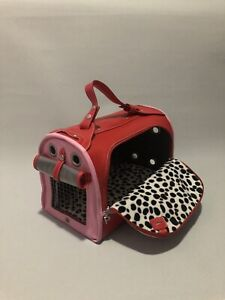 Pet Carrying Bag By Pet Flys Red & Pink 'Flying Heart' Pet Airline Approved