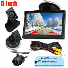 "5"" Color TFT LCD Car Monitor Reverse Parking Backup Camera Front/Side/Rear View"