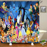 Disney Characters Design Waterproof Fabric Shower Curtain Bath Curtain With Hook