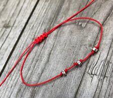 Kabbalah Red cord Lucky Bracelet Protection Evil Eye, Success Handmade