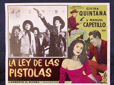 ELVIRA QUINTANA La Ley de las Pistolas MANUEL CAPETILLO LOBBY CARD PHOTO 1959
