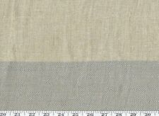 100% Linen Double Width Sheer by Ch Textiles R$220/yd Cooper Stripe Cl Flax
