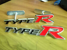 Chrome Metal Badge Front Grille Grill & Rear Combo Car Emblem TypeR Type R Logo