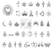 40 Style 20-250pcs Lots Charm Metal Pendant Tibetan Silver Jewellery Findings